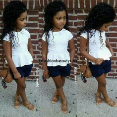 Little fashionista summer look Cute Kids Fashion, Little Girl Fashion, Toddler Fashion, Toddler Swag, Toddler Girl Style, Outfits Niños, Kids Outfits, Cute Little Girls Outfits, Kid Swag