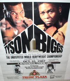 Original 1987 Fight Poster - Tyson Biggs $145
