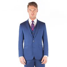 Ben Sherman Bright blue plain pure new wool 2 button front slim fit kings suit Ben Sherman, Debenhams, Suit Jacket, Buttons, Slim, Pure Products, Fitness, Jackets, Bright