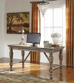 Tanshire Home Office Desk, H688-27, Ashley Furniture