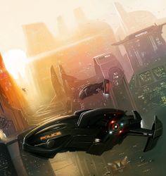 My creations: Environment Concept: Futuristic cops