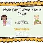 This chart was designed specifically for use with Lucy Calkins Units of Study, Personal Narrative Unit: Writing for Readers.