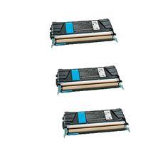 N 3PK Compatible X748H4CG Toner Cartridge For Lexmark C746DN C746DTN C746N C748DE