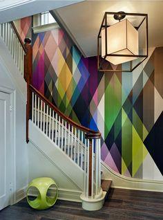 Cool wall pattern!
