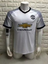 16-17 Manchester United Football Shirt Cheap Third White Replica Soccer Shirt