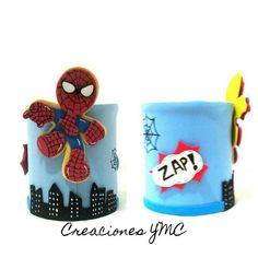 Para los peques un regalo original muy molón.    #spiderman #hechoamano #gomaeva #spiderman