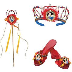 Disney Princess Snow White Halloween Costume Accessories Bundle (Classic Shoes, Tiara and Wand) #DisneyPrincessWMT