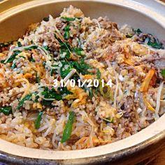 炊きました - 6件のもぐもぐ - 土鍋で大量ビビンバを by tomo1106