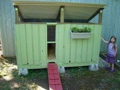 Chicken Coop made from wooden pallets by maria.t.rogers