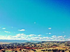 The High Desert between Santa Fe & Albuquerque, New Mexico [west view]  #Summer2014 ©moderngoat