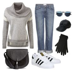 """Casual Grey"" by dessy-ilsanty on Polyvore featuring Paige Denim, Vianel, Christian Dior, adidas, M&Co, women's clothing, women, female, woman and misses"