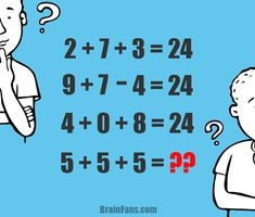 Let's try to solve this number puzzle. It's not one of the hardests, but actually an easier one. Please share how much time you needed to solve this math. Riddles Logic, Logic Math, Logic Puzzles, Puzzles And Answers, Number Puzzles, Picture Logic, Delaware, Lets Try, Brain Teasers