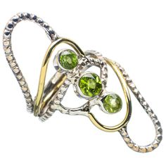 Peridot ring copper and silver