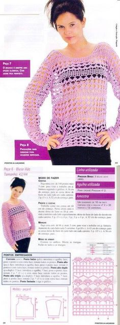 Crochetemoda Blog: Blusa de Crochet