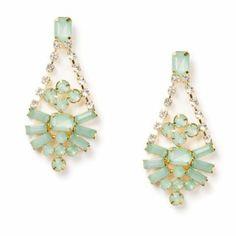 Pastel Crystal Geometric Teardrop Drop Earrings#wishuponapin