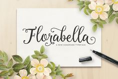 Florabella Script (30% Off) by Seniors on Creative Market