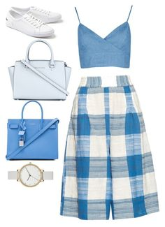 """""""Picnic Blue"""" by xenazah on Polyvore featuring ace & jig, Lacoste, MICHAEL Michael Kors and Skagen"""