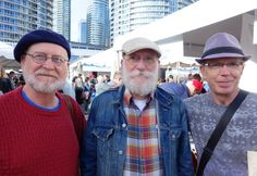 Charlie Huisken, Stan Bevington, and Steve Venright at Word on the Street Toronto. Photo by Don McLeod.