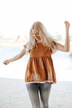 Embroidered Claira Top – Nest Boutique