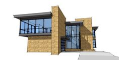 Contemporary Modern Elevation of Plan 67582