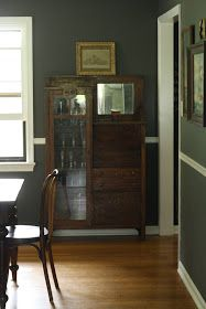 Primitive & Proper: My New Charcoal Gray Dining Room!