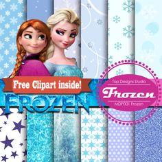 "Frozen Digital Paper : ""FROZEN DIGITAL PAPER""-  Free Anna Elsa ClipArt with Frozen Digital Scrapbooking Paper, Frozen Digital by Topdesignsstudio on Etsy https://www.etsy.com/listing/202738864/frozen-digital-paper-frozen-digital"