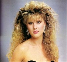 80s Hairstyles Women Crimped Crimped