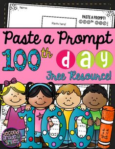 This FREE 100th Day of School Paste a Prompt writing prompt page was created to motivate reluctant writers in grade 1, grade 2, and grade 3 by adding elements of choice to writing time. Paste a Prompt pages give students three choices of prompt, located at the bottom of the page.