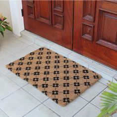 Shop for Large Ogee Floral Coir Doormat. Get free delivery at Overstock.com…