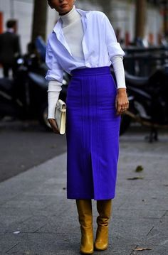 Best Skirt Outfits Part 16 Work Fashion, Modest Fashion, Skirt Fashion, Fashion Looks, Fashion Outfits, Womens Fashion, Fashion Trends, Asian Fashion, Fashion Tips