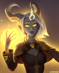 Cephia, Lightforged Priest by Zeon-in-a-tree on DeviantArt Fantasy Character Design, Character Design Inspiration, Character Concept, Character Art, Fantasy Races, Fantasy Warrior, Fantasy Art, Dnd Characters, Fantasy Characters