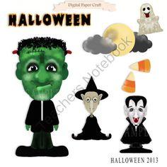 Halloween Clipart 2013 from Digital PaperCraft on TeachersNotebook.com (7 pages)  - Halloween Clipart 2013