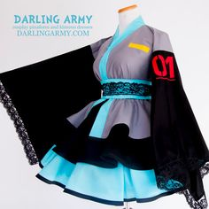 Cosplay Anime Hatsune Miku Cosplay Kimono Dress by DarlingArmy on DeviantArt Miku Cosplay, Cosplay Diy, Cosplay Dress, Cosplay Outfits, Anime Outfits, Fashion Outfits, Kawaii Fashion, Lolita Fashion, Anime Inspired Outfits
