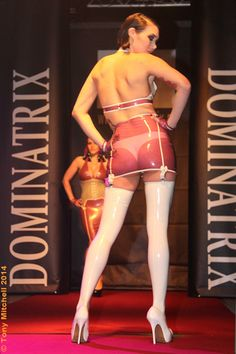 Another VinNoir Latex outfit on the Dominatrix catwalk, March worn here by talented chanteuse and model Rachael V Party Pictures, Fetish Fashion, White Heels, Dominatrix, Kinky, Catwalk, Latex Outfit, Wonder Woman, March 2014