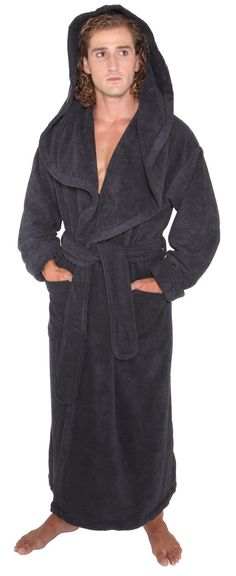 0f0555b2dd Arus Men s Monk Robe Style Full Length Long Hooded Turkish Terry Cloth  Bathrobe at Amazon Men s