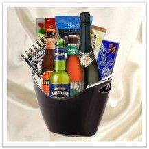 Great for Christmas...  Champagne & Beer Gift Basket  www.twistedribbon.com.au