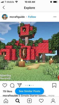 Villa Minecraft, Easy Minecraft Houses, Minecraft Banners, Minecraft Castle, Minecraft Plans, Minecraft Room, Amazing Minecraft, Minecraft Decorations, Minecraft Survival