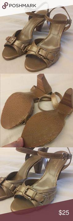 Anne Klein flex size 7.5 Tan heeled sandals Anne Klein flex size 7.5 Tan heeled sandals.  New without box. Anne Klein Shoes Heels