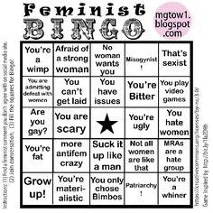 Feminist Bingo Card (low resolution preview)