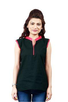 Designer Party Wear Black Pink Kurti
