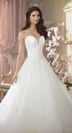 Princess Wedding Dresses : David Tutera for Mon Cheri Fall 2014 Bridal Collection   bellethemagazine.com