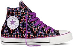 Converse - Chuck Taylor All Star Hearts - Hi - Black Multi
