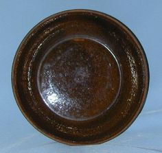 Antique Spicy Brown Colored Glazed Redware Plate Southeastern Pennsylvania