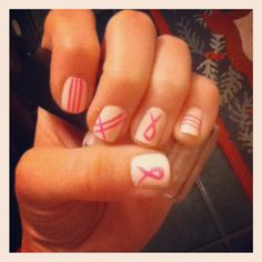 breast cancer nails.!