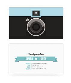 cartão do fotógrafo