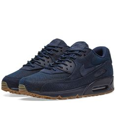 Buy the Nike Air Max 90 Premium Wool in Indigo, Obsidian & Navy from leading mens fashion retailer END. - only Fast shipping on all latest Nike products Air Max Sneakers, Sneakers Nike, Air Max 90 Premium, Nike Shox, Kinds Of Shoes, Me Too Shoes, Nike Men, Nike Air Max, Air Jordans