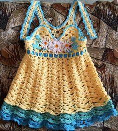 beside crochet: احلى فستان كروشية للعيد القادم.Beautiful crocheted dress for festival