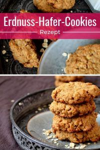 Peanut oat cookie-Erdnuss-Hafer-Cookie Here you will find a recipe for perfect cookies with peanut butter and oatmeal. Healthy Smoothies, Fruit Smoothies, Smoothie Recipes, Healthy Snacks, Oat Cookies, Peanut Butter Cookies, Cookies Et Biscuits, Easy Cookie Recipes, Snack Recipes