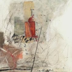 "Lynn Watt | Mapping | encaustic mixed media on panel 4""x4"" /sm"