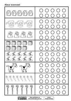 Kleur evenveel [Marije Andringa] Diy For Kids, Crafts For Kids, Saint Nicolas, Coloring Sheets, Kindergarten, Teaching, Education, Father Christmas, Occupational Therapist